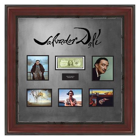 Signed + Framed Currency Collage // Salvador Dali