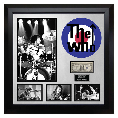 Signed + Framed Currency Collage // Keith Moon