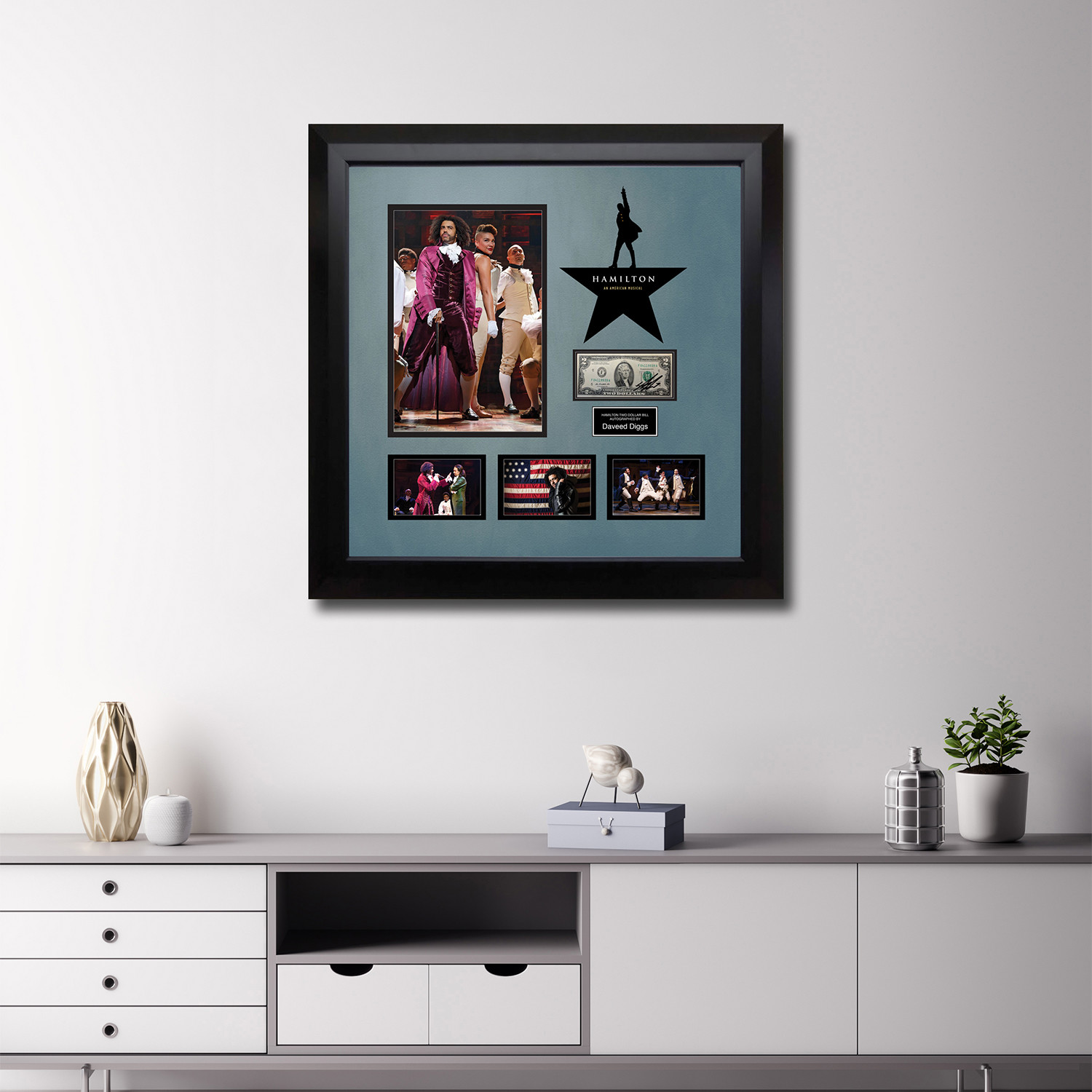 Signed + Framed Currency Collage // Daveed Diggs - The Get