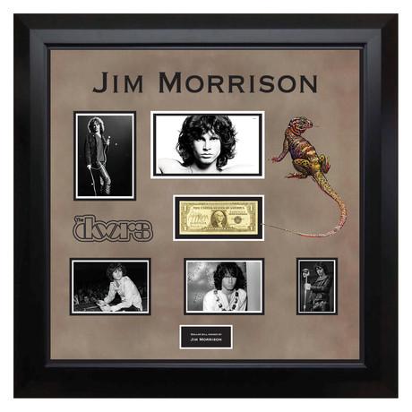 Signed + Framed Currency Collage // Jim Morrison
