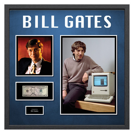 Signed + Framed Currency Collage // Bill Gates