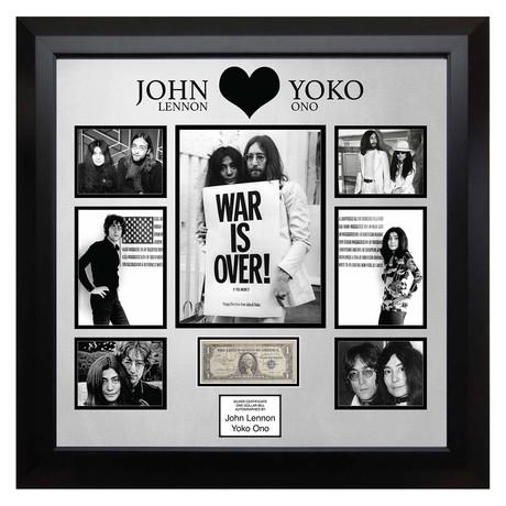 Signed Currency // John Lennon + Yoko Ono