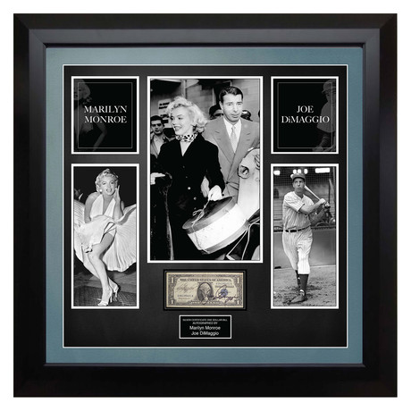Signed + Framed Currency Collage // Marilyn Monroe + Joe DiMaggio