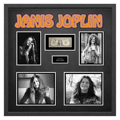 Signed + Framed Currency Collage // Janis Joplin