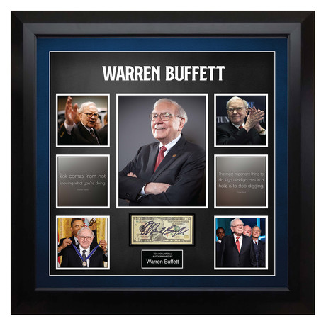 Signed + Framed Currency Collage // Warren Buffet