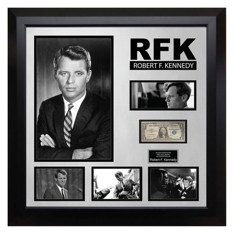 Signed + Framed Currency Collage // Robert F. Kennedy