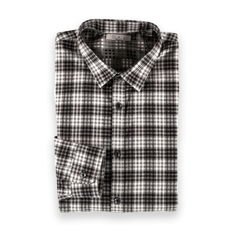 Dylan Button Down // Gray Checkered (S)