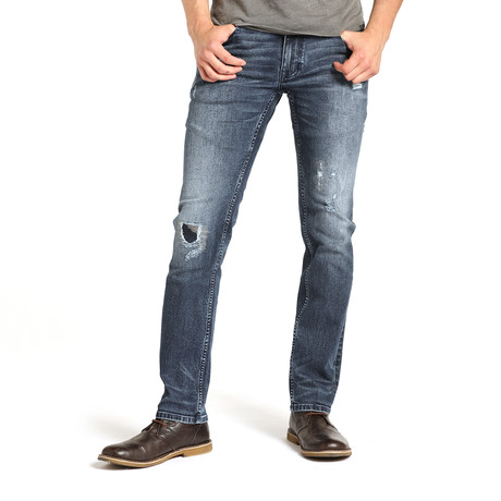 Miles Mens Tapered Straight // Gray Blue Wash (28WX32L)