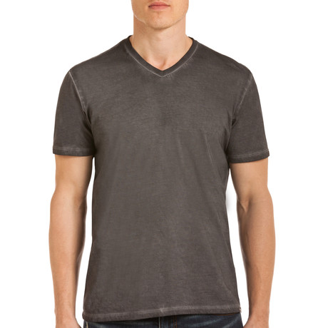 Drake Short Sleeve V-Neck T-Shirt // Gray (S)