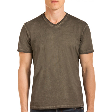 Drake Short Sleeve V-Neck T-Shirt // Green (S)