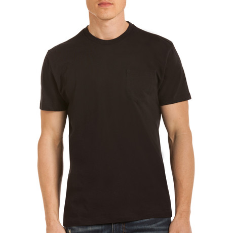 Drake Short Sleeve Crew NeckPocket T-Shirt // Black (S)