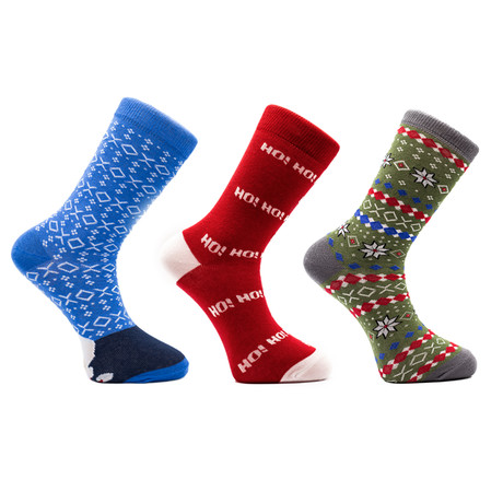 Jarred Holiday Socks // Set of 3 Pairs (Size 8-12)