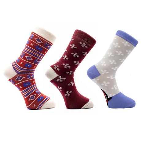Kunal Holiday Socks // Set of 3 Pairs (Size 8-12)