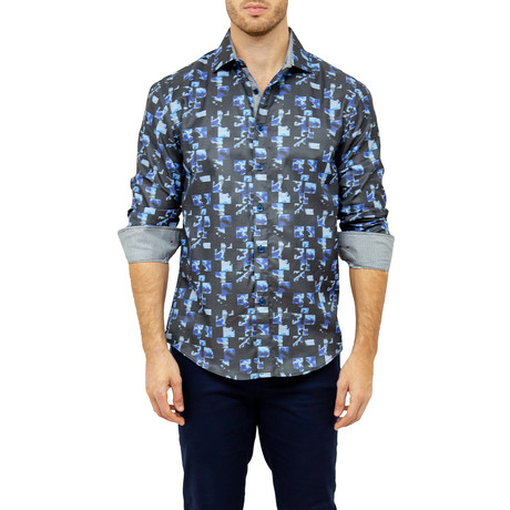 Mason Long-Sleeve Button-Up Shirt // Navy (S)