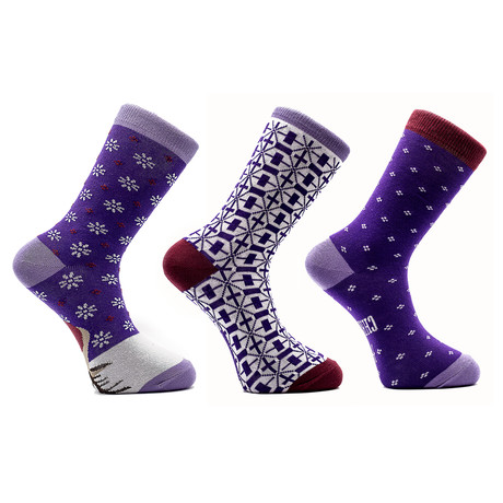 Saffron Holiday Socks // Set of 3 Pairs (Size 8-12)