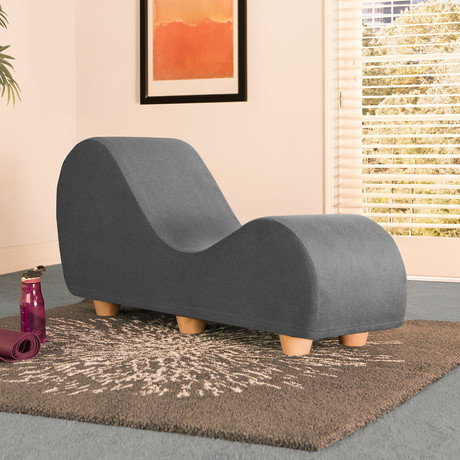 Yoga Chaise // Maple Feet // Pewter