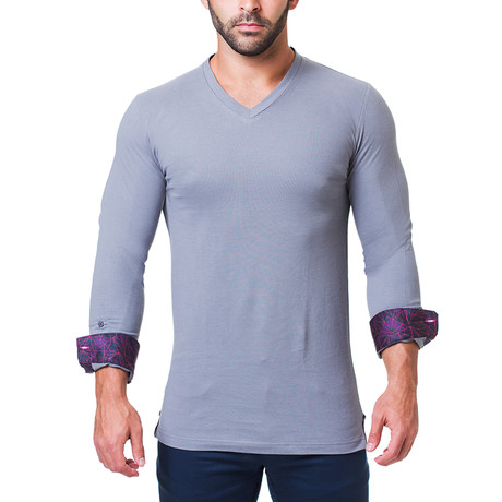 Edison V-Neck // Matrix Grey (S)