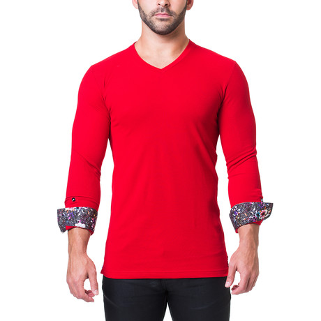 Edison V-Neck // Breakthrough Red (S)