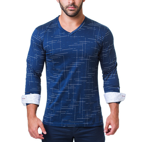 Edison V-Neck // Dash Navy (S)