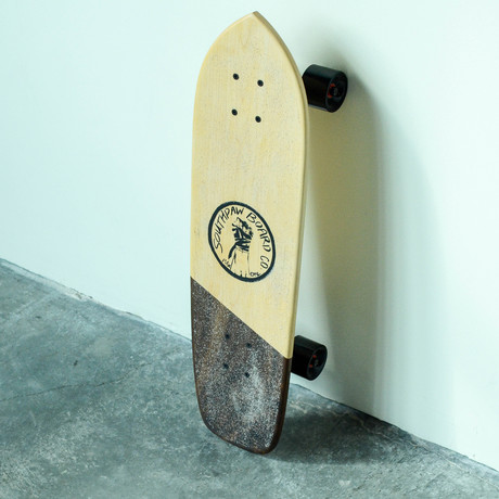 Vintage Cruiser Skateboard // Angle // Maple + Walnut