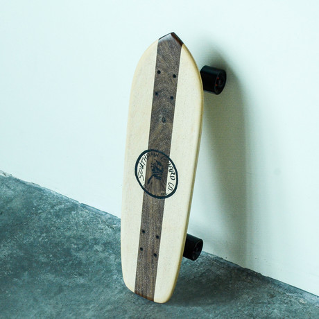 Vintage Cruiser Skateboard // Vertical Stripe // Maple + Walnut