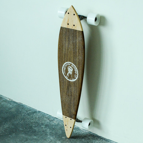 Pintail Longboard // Two Tone // Walnut + Maple