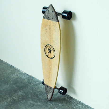 Pintail Longboard // Two Tone // Maple + Walnut