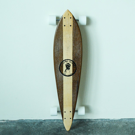 Pintail Longboard // Vertical Stripe // Walnut + Maple