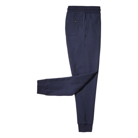 Logan Cuffed Sweatpants // Dark Marl Blue (S)
