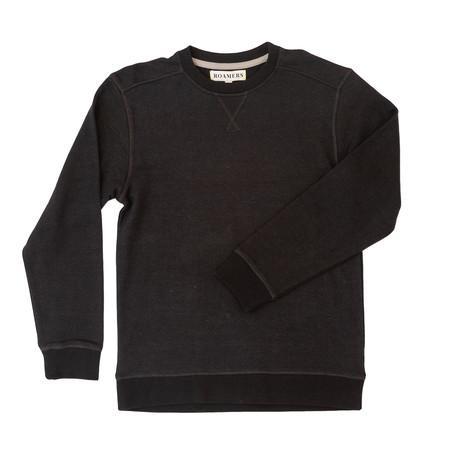 Monterey Hemp + Organic Cotton Blend Pullover // Dark Charcoal (XS)