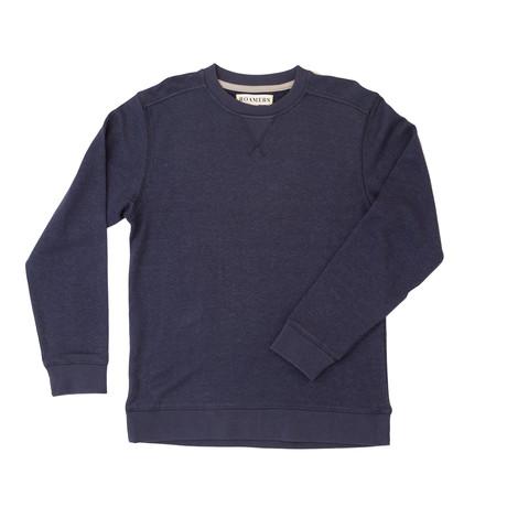 Monterey Hemp + Organic Cotton Blend Pullover // Navy (XS)