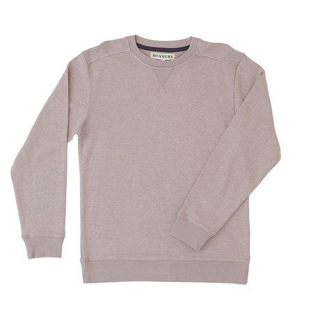 Monterey Hemp + Organic Cotton Blend Pullover // Grey (XS)