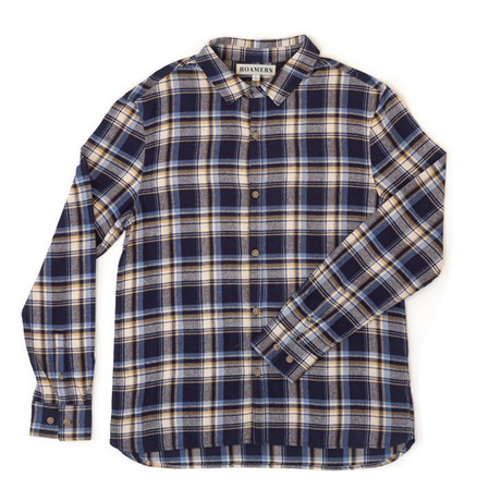 Canyon Button Up // Navy Plaid (XS)