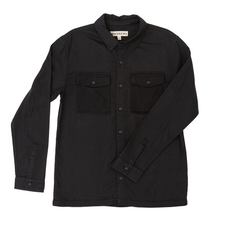 Barlow Button Up // Dark Charcoal (XS)