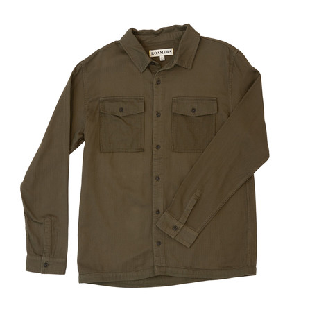 Barlow Button Up // Olive (XS)