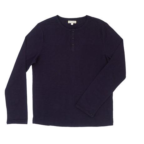 Custom Cotton Henley // Navy (XS)