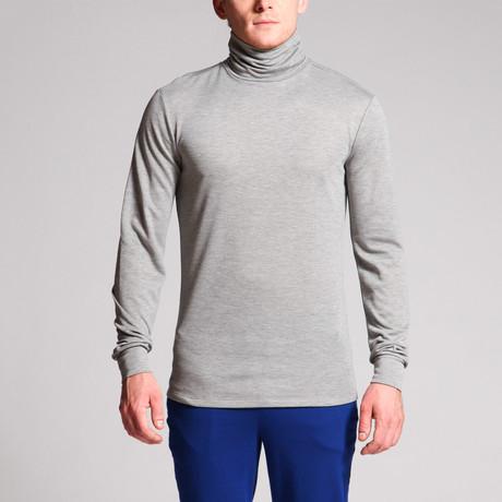 Eli High Neck Top // Grey (S)