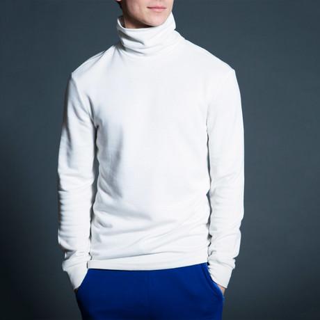 Eli High Neck Top // White (S)