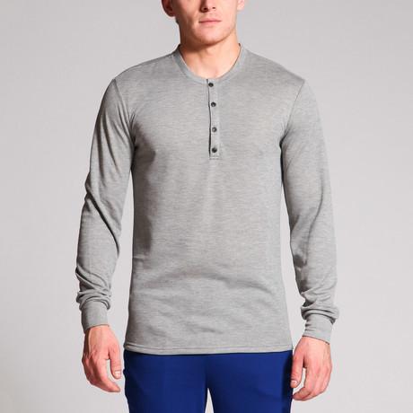Mason 4-Button Henley // Grey (S)