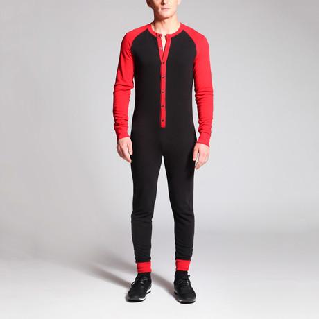 William Onesie // Black + Red (S)