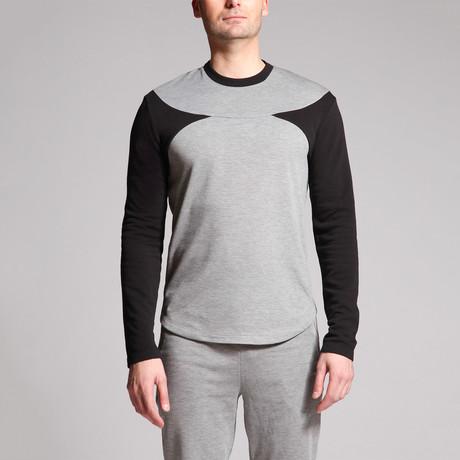 David Point Panel Shirt // Grey + Black (S)