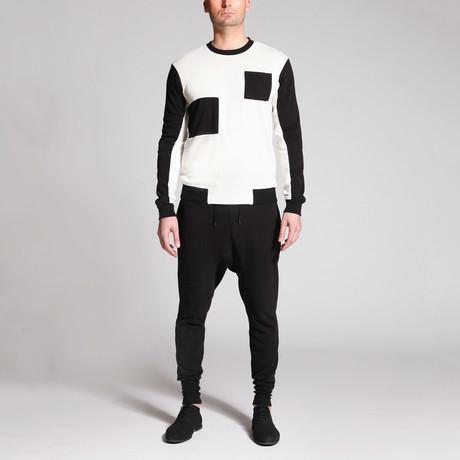 Joey Patch Shirt // Black + White (S)