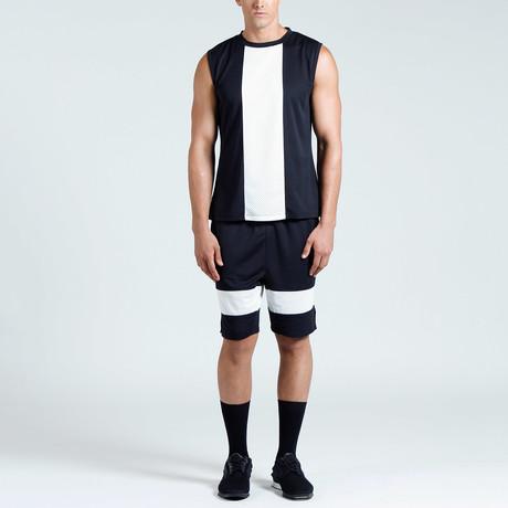 Jordan Muscle Tank // Black + White (S)
