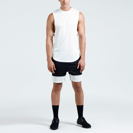 Hudson Muscle Tank // White (S)