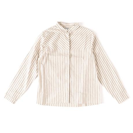 Baker Cotton + Linen Blend Shirt // Vanilla Stripe (XS)