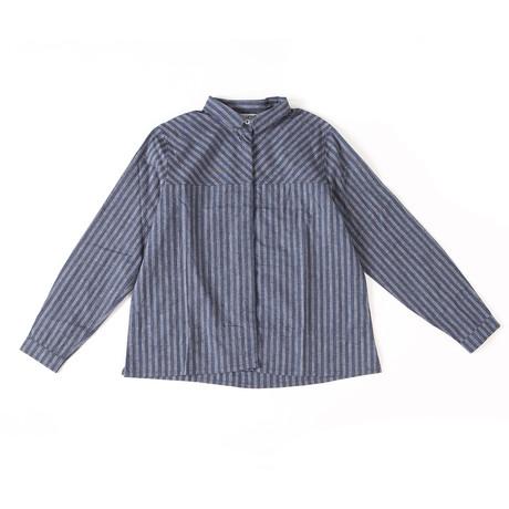 Baker Cotton + Linen Blend Shirt // Navy (XS)