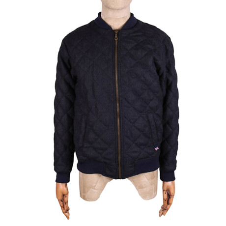 Wool Bomber Jacket // Navy (S)