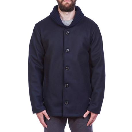 Bampton Wool Coat // Navy (S)