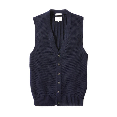 Knitted Vest // Navy (S)