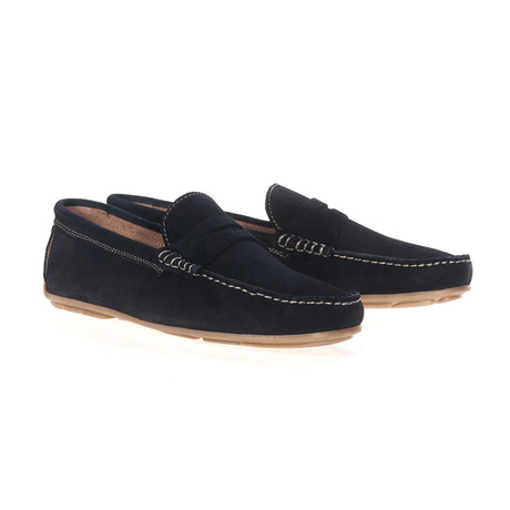 Split Mask Moccassin // Midnight Blue (Euro: 40)